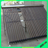 All stainless steel heat pipe tube pressurized manifold solar collector for solar hot water project