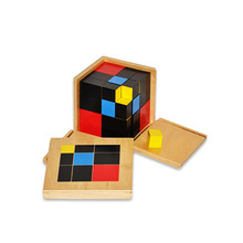 Kindergarten Wooden Montessori Materials Trinomial Learning Cube Educational Toys For Kids