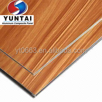 Faux wood Aluminum Composite Panel ACP sheet Interior decoration wall paneling