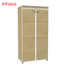 Simple single assembly fully closed dust-proof non-woven fabric wardrobe