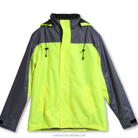 fluorescent reflective safety jackets with 300D oxford fabric