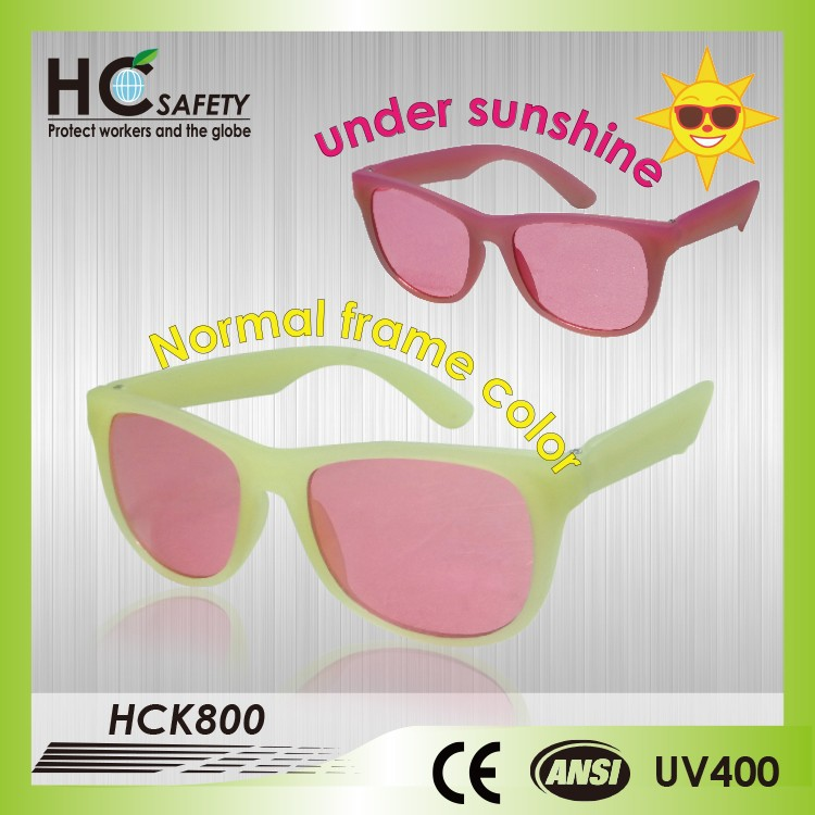 WHCK800 baby products made in Taiwan UV 400 color change frame sunglasses kids sunglasses