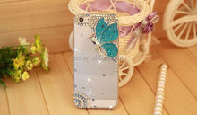 Handmade 3D Bling Cyrstal Diamond Butterfly Angel Hard PC Protective Case For Iphone 5 5G 5S New