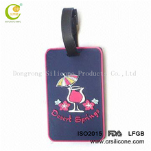 Fashion logo embossed impressive design unique pattern oem style pvc customized luggage belt with name tag