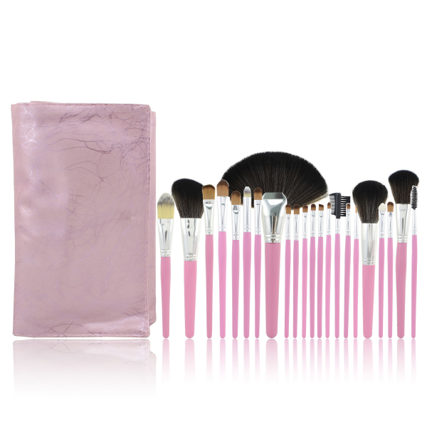 22pcs Hot Pink Cosmetic Beauty Makeup Brush Set Make Up Tools Beauty Set