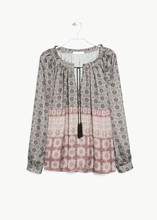 OEM Service Supply Type print chiffon casual blouse for women