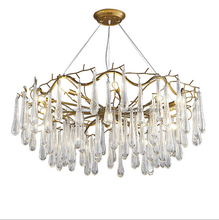 European creative chandelier American vintage style gold color chandelier used in house/cafe/dress shop