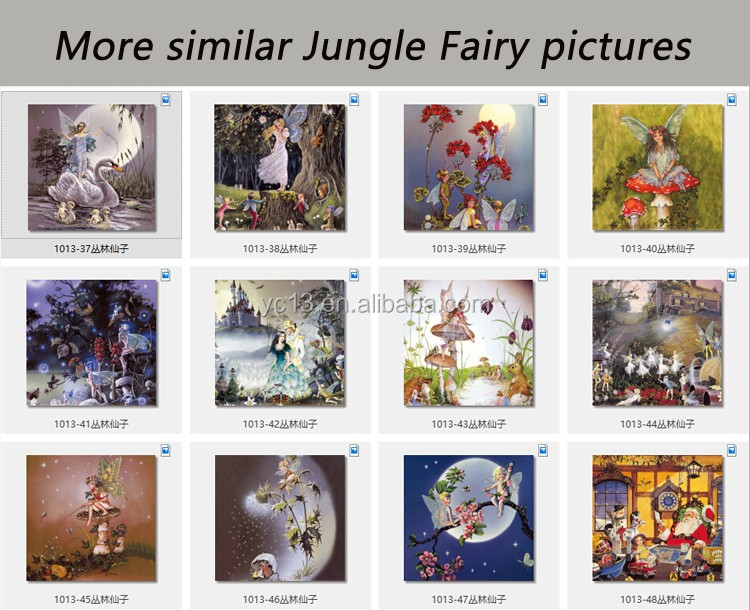 jewelry metal angel figurines picture magnetic photo frame &print magnetic paintings Jungle Fairy 1013-42