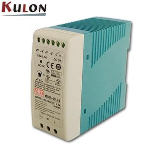 Meanwell economical slim AC/DC converter MDR-20-24 20W 220VAC to 24VDC DIN rail switching power supply.
