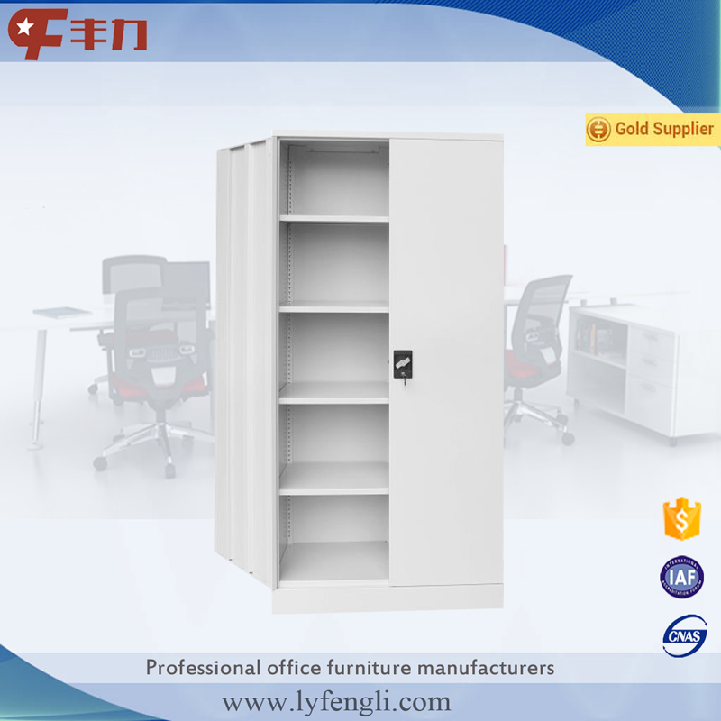 Office Furniture 2 Door 4 Shelves Metal Filing Cabinet Used Steel Locker Cabinet