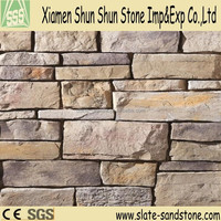 Chinese natural slate tile rough stone interior wall tile