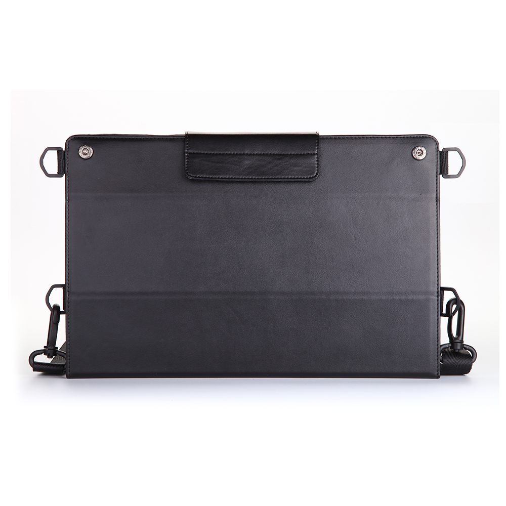 "PR2776 genuine leather tablet case for iPad air 2 & pro 9.7"" with shoulder belt and hand straps"
