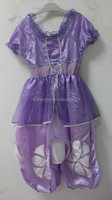 2016 Instyles 2--10 years old the first fancy dress purple sofia dress Wholesale hotonesie walsonstyles