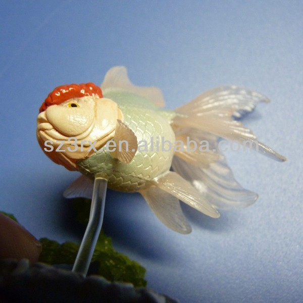 OEM art toy plastic goldfish toy;small plastic fish toys factory