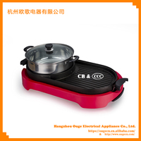 Electric Stainless Steel Hot Pot Table Grill HP5930 with Non-stick Surface
