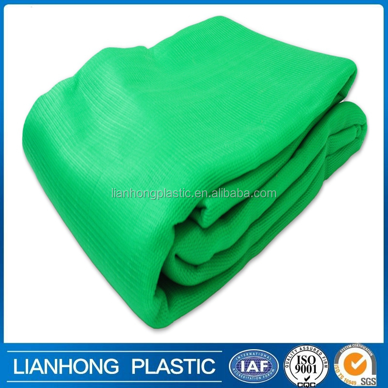100% virgin HDPE green black blue shade netting for agriculture , constuction safety scaffold shade netting