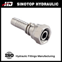 Swaged crimping hydraulic hose fittings