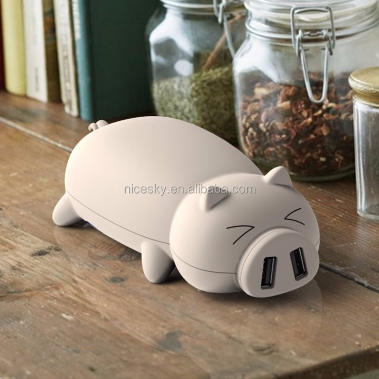 little piggy cartoon power bank 10000mah ,cartoon piggy cute shaped power portable battery charger for iphone samsung