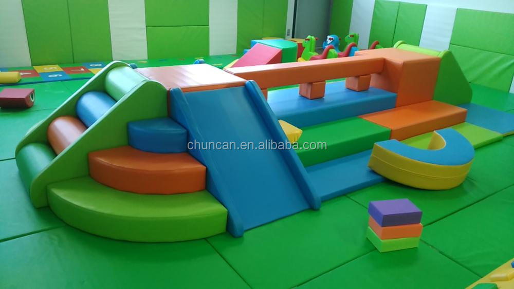 Party use soft modular play center equipment for children indoor for sale