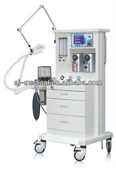 Anesthesia Machine with Ventilator / anesthesia equipment (2 Vaporizers,2 Gas) AJ-2103