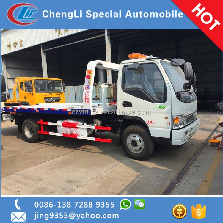6 wheels 4 tons JAC brand new cheap wrecker tow trucks for sale