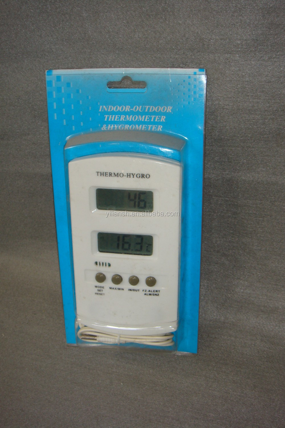 Indoor Outdoor Digital lcd display Thermometer & Hygrometer