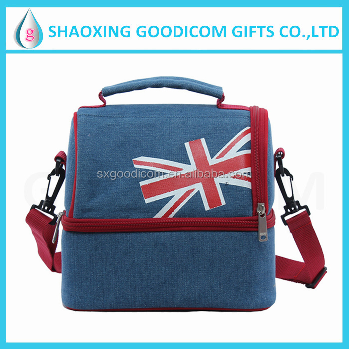 Portable insulated lunch cooler bag fashion picnic tote bag