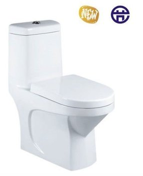 Hottest round floor mounted ceramic one piece wc clean toilet basin
