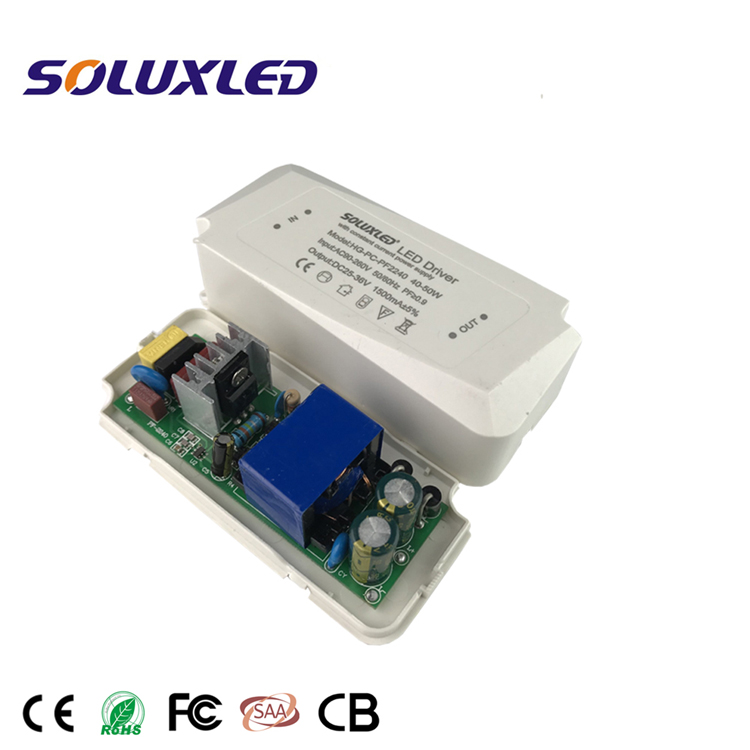 40-50W ac power supply 1500mA PC LED driver