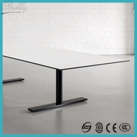 Brand new water-proof compact hpl square to round table top for africa market