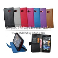 Wallet flip leather case for HTC Butterfly S