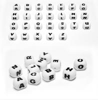 Best selling BPA free silicone teething alphabet letter beads
