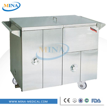 MINA-FC001 heat preservation steam deliverying meals hospital warmer food trolley