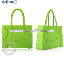 Eco-friendly colorful custom silicone shopping bag for promotion