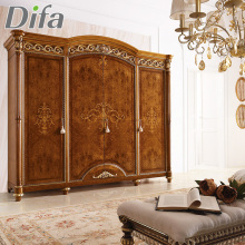 Custom Chinese Wood Wardrobe Antique Solid Wood Carved Armoire Wardrobe