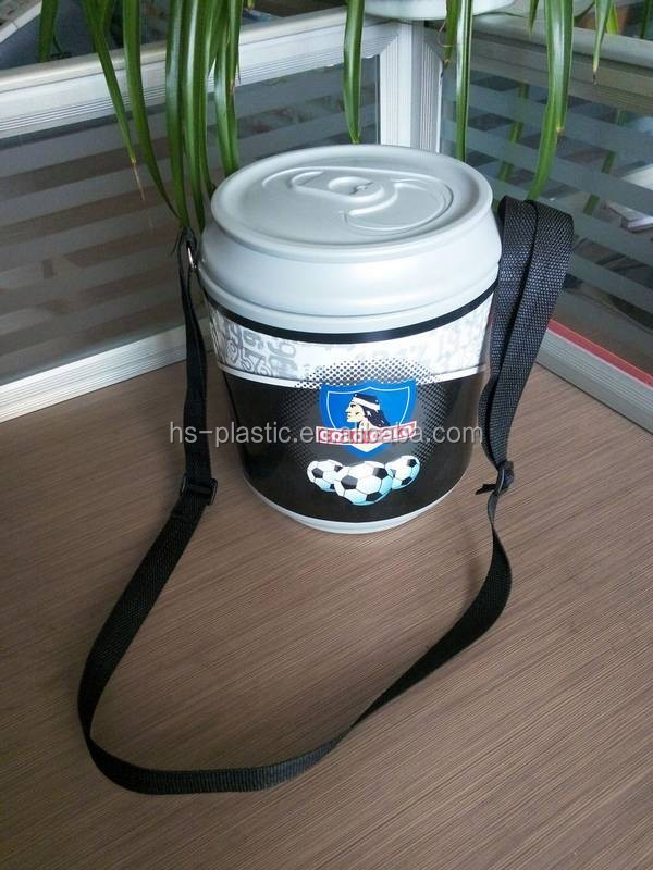 Plastic Can/bottle Shaped Cooler Box With Shoulder straps
