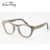 no moq custom logo vintage round wood eyeglasses without nose pads