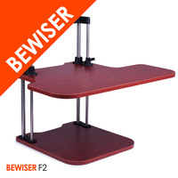 Foldable and changable height laptop table sit stand workstation (BEWISER F2)