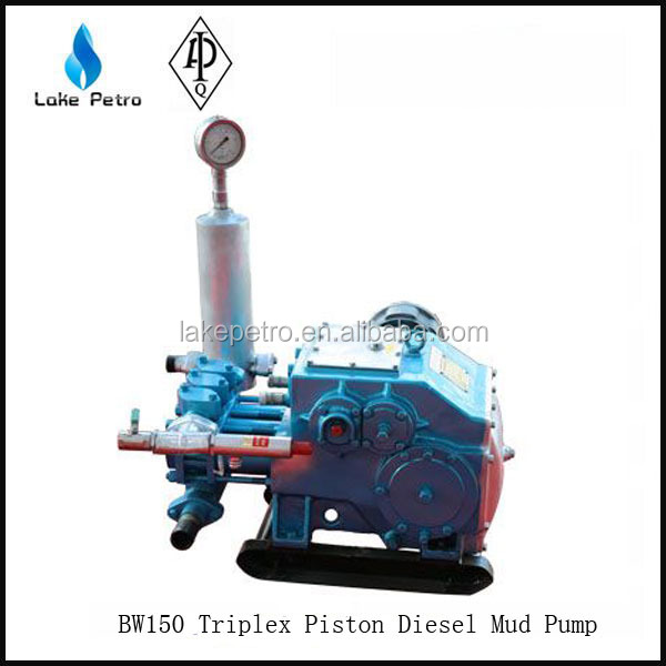 BW150 Triplex Piston Diesel Mud Pump for oil and water well