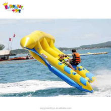 Hot sale 3 tubes inflatable flying fish banana boat/flying towables for water sports EF-15