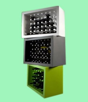 wooden wine display cube