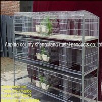 female rabbit wire cages sale(factory)3 or 4 layers
