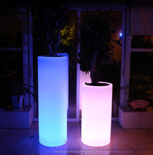 Hot sale rechargeable color changing garden planter flower vase led flower pot light
