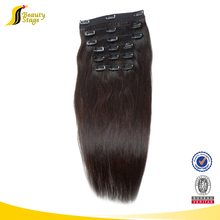 Best factory price 180g remy clip in hair extensions, temple indian 220g remy clip in hair extension