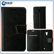 Wallet Card Holder PU Leather Flip Case Cover Embossed Line For Samsung Phone Covers For Samsung Galaxy core G3518