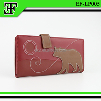 Wholesale new design lovely bear clutch purse lady girls leather wallet