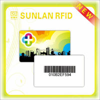 13.56MHZ MF 1K chip inside CR80 plactic card with barcode printed,magnetic stripe(professional manufacturer)
