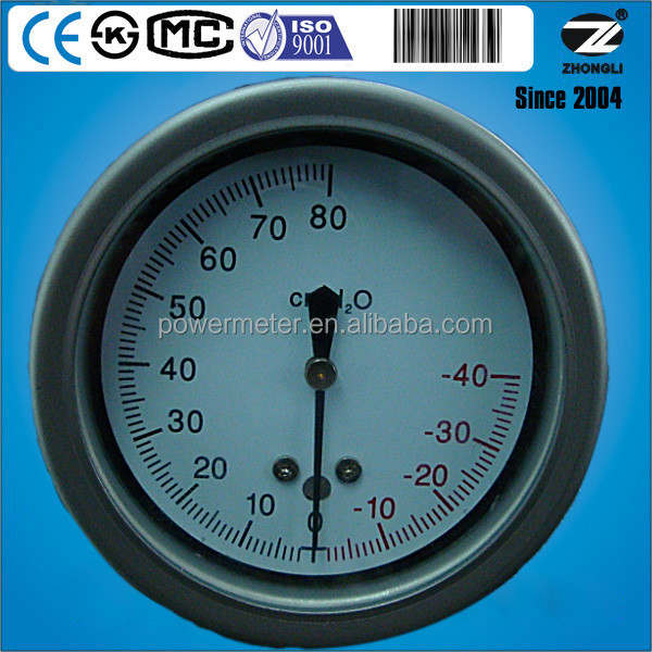 2.5inch stainless steel low pressure cylinder gauge meter marking cmH2O