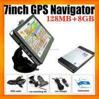 7 inch HD Touch Screen 128M/8gb Car Navigation&GPS system with free map