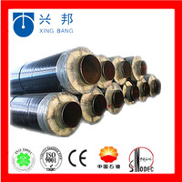 direct buried steel jacket glass wool insulated steam steel insulation pipeline